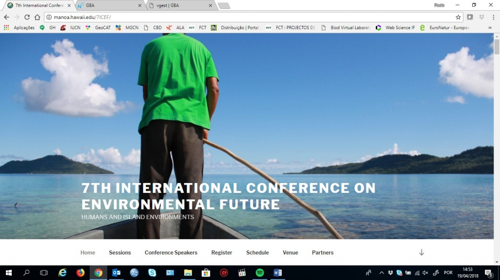 Investigadores do GBA participam no 7th International Conference on Environmental Future (7th ICEF)